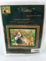 "Kustom Krafts Counted Cross Sttitch Kit ""Kitties""16""W X 12""-3/4""H #98107... - $28.04"