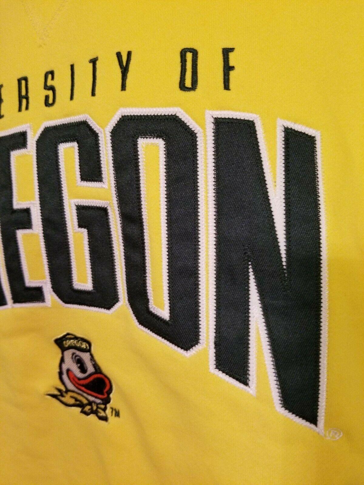 Rare Champion Elite Oregon Ducks Crewneck Sweatshirt Mens Size XXL 2XL Yellow