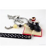 Cat Miniature Keychain Bag Charm, Gothic Lolita, Goth Accessories, Cat L... - $27.00