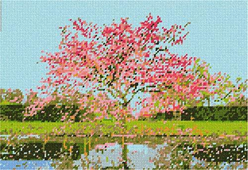 Primary image for pepita Tree in Spring Needlepoint Canvas