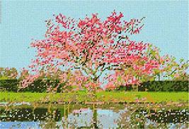 pepita Tree in Spring Needlepoint Canvas - $93.00