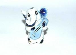 Mini Figurine Elephant Painted Porcelain Gilding Vintage Beautiful And C... - $47.52