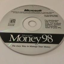 PC CD-ROM Microsoft Money 98 Windows 95 NT Vintage Software - $8.61