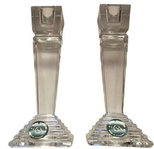 2 Lenox Ovations Lead Crystal Monument Candleholders, Art Deco, Germany,... - $39.45
