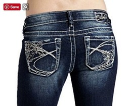New SILVER Jeans Sale Buckle Tuesday Dark Denim Stretch Jean Mid Shorts ... - $39.97