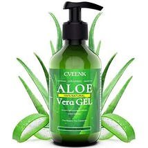 CVEENK Aloe Vera Gel, 10oz 300ml Organic Aloe Vera Moisturizing Gel, 100% Natura