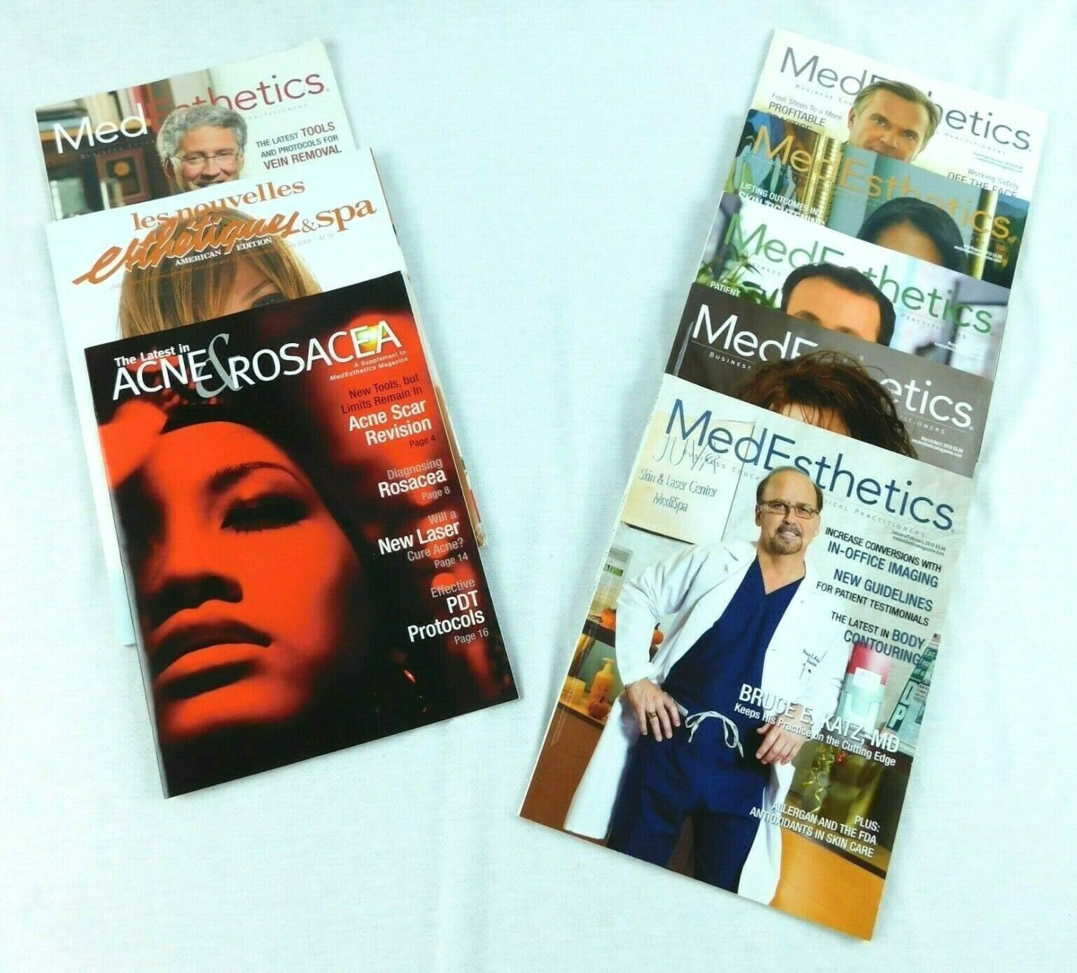 Primary image for MedEsthetics 2010 Les Nouvelles Acne & Rosacea Magazine Combo Set