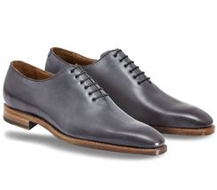 Ue leather formal dress oxford laceup shoe handmade made to order matching natural sole thumb200