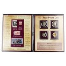 U.S. PROOF DOLLAR COINS SET WITH MATCHING STAMPS POSTAL COMMEMORATIVE SO... - $89.10