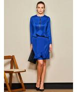 Royal Blue Designer Pencil Flounce Dress Size Choice S M XL 2XL - $16.30