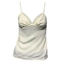 Vera Wang Womens Ivory V-Neck Camisole Cami Tank Top Sz S - $14.85