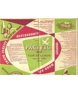 Pacific Bar Cafe De La Paix Paris Phonetic Food Dictionary French German English - $28.81 CAD