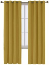 Deconovo Blackout Curtain, 52x84 Inch, Turmeric - $35.67+