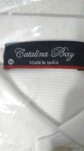 Catalina Bay Men's Casual Shirt Polo WHITE Cool & Dry Sizes MEDIUM OR LA... - $16.95