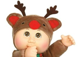 NEW Cabbage Patch Kids Cuties Holiday Helpers Cocoa Reindeer Plush Doll + Santa - $31.84