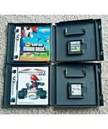 2 Nintendo DS Super Mario Bros. Mario Kart Mario & Luigi Game  E - $29.69