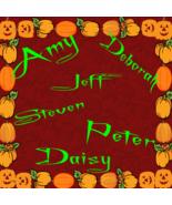 Pick 6 Custom Halloween Color Names 1B-Digital ClipArt - $4.99
