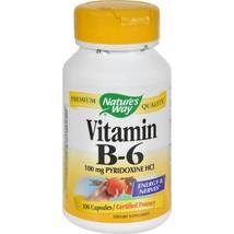 Nature's Way Vitamin B-6 100mg 100 Capsules Dietary Supplements - $7.27