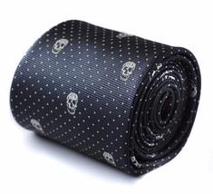Frederick Thomas navy skull pattern tie FT1101