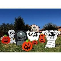 Halloween Decorations Yard Set 7Pack Ghost Skeleton Pumpkins Holiday Par... - £19.85 GBP