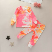 NWT Girls Tie Dye Long Sleeve Ribbed Outfit Set 2T 3T 4T 5T - $10.99