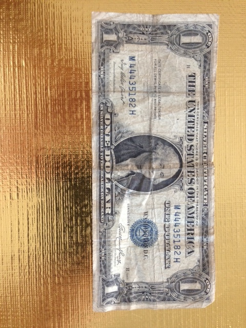 1935 Blue Seal $1 One Dollar Silver Certificate Bills series E