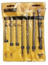 DEWALT DW5207 7-Piece Premium Percussion Masonry Drill Bit Set - $18.00