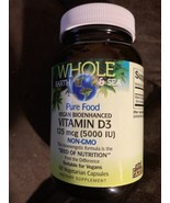 Whole Earth and Sea Pure Food Vegan Vitamin D3. Non- GMO. 60 Vegetarian ... - $25.25