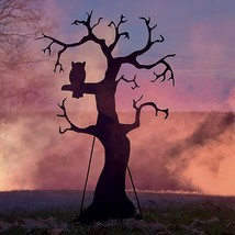"60"" Black Metal Spooky Tree Silhouette Decoration Outdoor Halloween Yard... - ₨10,701.01 INR"