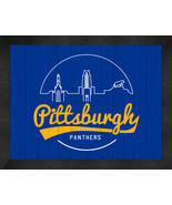 Pittsburgh Panthers x 16 Uscape with Retro Skyline Framed Print  - $39.95