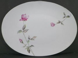 """VINTAGE STYLE HOUSE FINE CHINA DAWN ROSE 14"""" OVAL SERVING DISH -F11 - $17.99"""