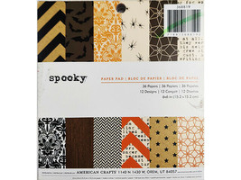 American Crafts Spooky Paper Pad, 6x6 Inches #368819