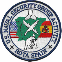 """NAVY NAVAL SECURITY GROUP ACTIVITY ROTA SPAIN 4"""" EMBROIDERED  PATCH - $23.74"""
