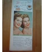 Vintage Jergens Makeup Penny Edwards Print Magazine Advertisement 1945 - $8.99