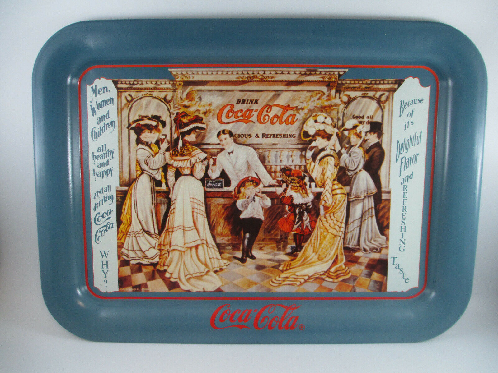 Primary image for Coca-Cola Tin Tray Soda Fountain Issued 1989 Excellent