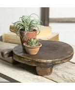 PRIMITIVE ROUND BREADBOARD Treen Farmhouse Resin Country Rustic Decor Di... - $55.09