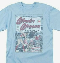 Wonder Woman for President T-shirt retro DC comic book Superman superhero DCO657 image 1