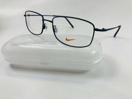 New NIKE 8180 413 Satin Navy Eyeglasses 57mm with NIKE Case - $79.15
