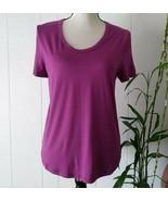 A New Day Violet Purple Tee T Shirt Women's Short Sleeve V Neck Hi-Lo Su... - $15.43