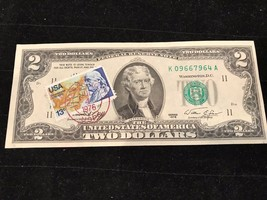 "RARE ERROR $2 1976 First Day Issue Notes Bicentennial DATE STAMP ""JULY 4... - $145.08"