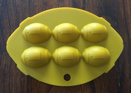 FOOTBALL SHAPED SPORT SILICONE FONDANT CHOCOLATE CANDY MOLD  - $8.90
