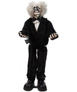 Animated Crazy Man Halloween Decoration Touch Activated Spooky Indoor De... - $68.31