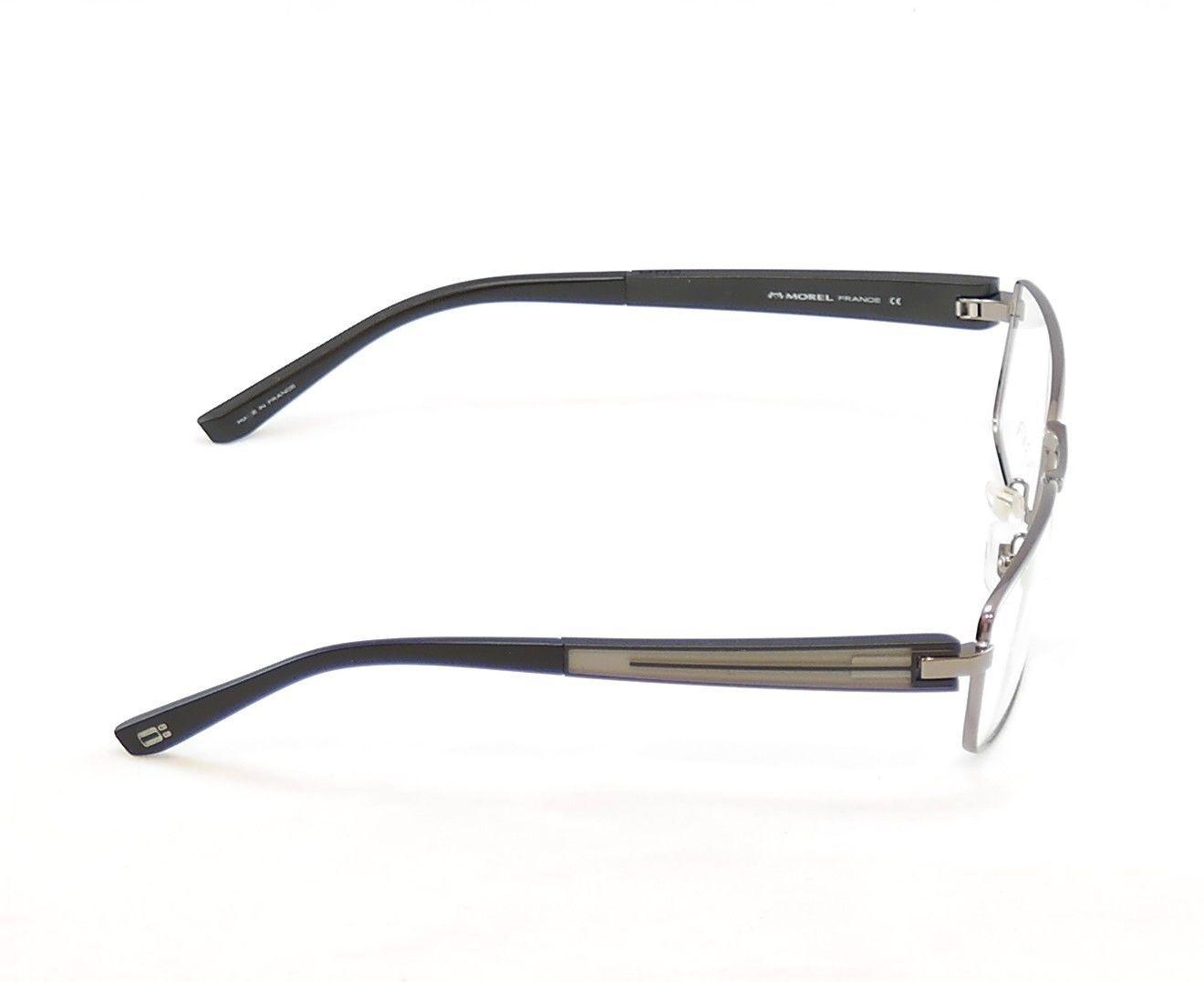 Authentic OGA Morel Eyeglasses Frame 74120 GG033 Gunmetal Metal Plastic France