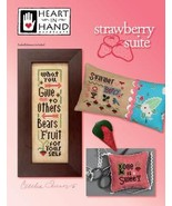 Strawberry Suite cross stitch chart Heart in Hand - $9.90
