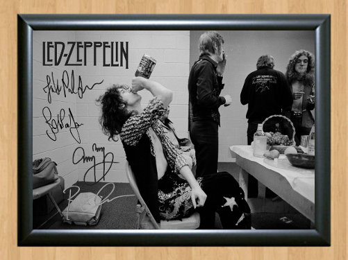 Led Zeppelin Jimmy Jack Daniels Signed Autographed A4 Photo Poster Memorabilia for sale  USA