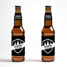 Dad's Craft Brew Beer Bottle Labels - set of 12 labels