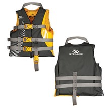 Stearns Antimicrobial Nylon Life Jacket - 30-50lbs - Gold Rush - $39.47