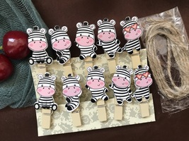 Cow Wooden Pegs,Wooden Clips,Pin Clothespins,Birthday Party Decoration Favor - $3.20 - $18.00