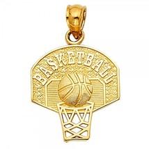 14K Yellow Gold Basketball Pendant - $95.99