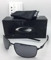 New OAKLEY Sunglasses SQUARE WIRE OO4075-01 Polished Black Frame w/Black Iridium